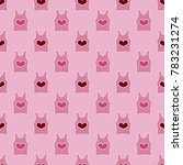 pattern with hearts valentines... | Shutterstock .eps vector #783231274