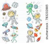 moon surface. kindergarten...   Shutterstock .eps vector #783232885