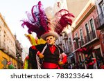 huehues mexico  carnival scene  ... | Shutterstock . vector #783233641