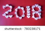 pink heart shape marshmallows...   Shutterstock . vector #783238171