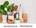 natural beige and brown wooden... | Shutterstock . vector #783240244