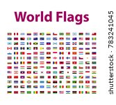 vector flags of the world | Shutterstock .eps vector #783241045