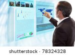 businessman works with... | Shutterstock . vector #78324328