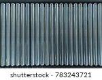crossing of the roller conveyor.... | Shutterstock . vector #783243721
