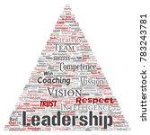 conceptual business leadership...   Shutterstock . vector #783243781