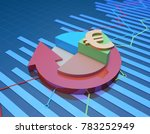 3d illustration circular arrows ... | Shutterstock . vector #783252949