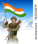illustration of indian army... | Shutterstock .eps vector #783253879