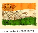 illustration of india... | Shutterstock .eps vector #783253891