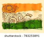 illustration of india... | Shutterstock .eps vector #783253891