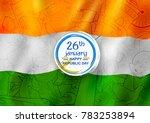 illustration of tricolor banner ... | Shutterstock .eps vector #783253894