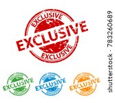 rubber stamp seal   exclusive   ... | Shutterstock .eps vector #783260689