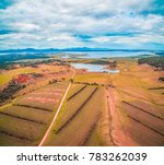 aerial view of beautiful winery ... | Shutterstock . vector #783262039