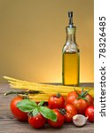 spaghetti ingredients with... | Shutterstock . vector #78326485