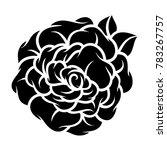 flower rose  black and white.... | Shutterstock .eps vector #783267757