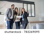 couple with real estate agent... | Shutterstock . vector #783269095