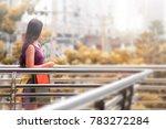 a long hair russian teenager...   Shutterstock . vector #783272284