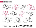 set of hand drawn sketchy... | Shutterstock . vector #783277267