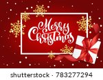 christmas greeting card. merry... | Shutterstock . vector #783277294