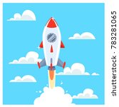space rocket launch. start up... | Shutterstock .eps vector #783281065