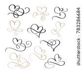 set of flourish calligraphy... | Shutterstock . vector #783286684
