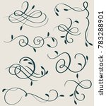 set of decorative calligraphy... | Shutterstock . vector #783288901