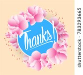 thanks  beautiful greeting card ... | Shutterstock .eps vector #783293665