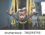 mom with child down syndrome... | Shutterstock . vector #783293755