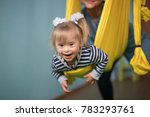 mom with child down syndrome... | Shutterstock . vector #783293761