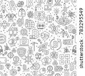 bitcoin seamless pattern.... | Shutterstock .eps vector #783295549