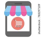 m commerce vector icon  | Shutterstock .eps vector #783297109