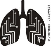 human digital lungs vector... | Shutterstock .eps vector #783299695