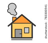 house with chimney vector line... | Shutterstock .eps vector #783300541