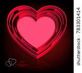 dark design with a red heart... | Shutterstock .eps vector #783301414