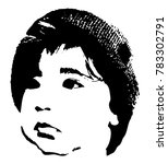 little baby face stencil on a... | Shutterstock .eps vector #783302791