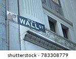 wall street road sign   Shutterstock . vector #783308779