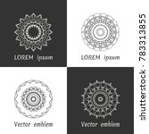 vector set of line logo design... | Shutterstock .eps vector #783313855