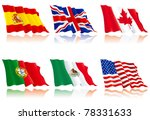 flags set 1. usa  america ... | Shutterstock .eps vector #78331633