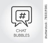 chat bubbles line icon....