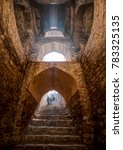 Small photo of Underground step-well Ugrasen ki Baoli in heart of New Delhi, India. It is a protected monument and built by Maharaja Agrasen and restored in 14th Century AD