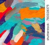 oil painting on canvas handmade....   Shutterstock . vector #783328375