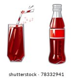 glass and bottle. vector... | Shutterstock .eps vector #78332941