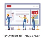 website under construction.... | Shutterstock .eps vector #783337684