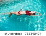 brunette  young woman  girl... | Shutterstock . vector #783340474