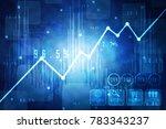 2d rendering stock market... | Shutterstock . vector #783343237