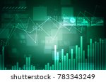 2d rendering stock market...   Shutterstock . vector #783343249
