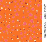 pattern with hearts valentines... | Shutterstock .eps vector #783344509