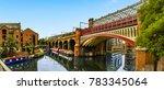 a view along a railway viaduct... | Shutterstock . vector #783345064