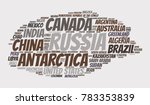 100 biggest countries word... | Shutterstock .eps vector #783353839