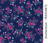 ditsy rose print   seamless... | Shutterstock .eps vector #783354871