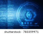 fingerprint scanning... | Shutterstock . vector #783359971